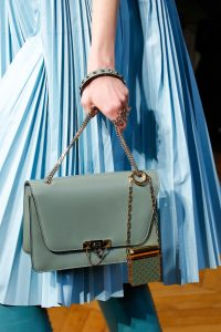 Valentino Light Green Flap Bag with Studded Lipstick Holder 2 - Fall 2017