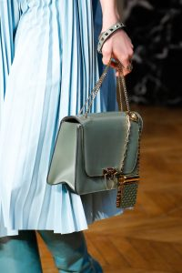 Valentino Light Green Flap Bag with Studded Lipstick Holder - Fall 2017