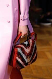 Valentino Red Embellished Saddle Bag - Fall 2017