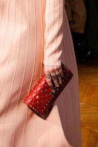 Valentino Red Rockstud Clutch Bag - Fall 2017