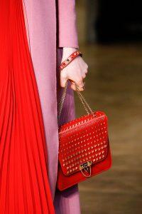Valentino Red Rockstud Flap Bag - Fall 2017