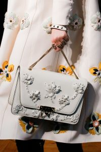 Valentino White Floral Embellished Flap Bag - Fall 2017