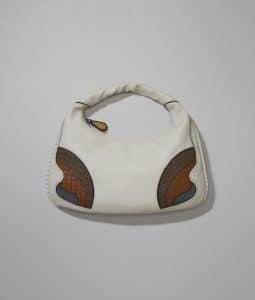 Bottega Veneta Mist Deerskin/Lizard/Ostrich Large Veneta Bag
