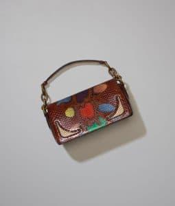 Bottega Veneta Multicolor Python Amarillo Bag