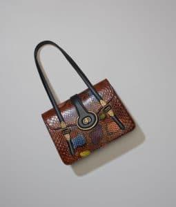 Bottega Veneta Multicolor Python Mezzaluna Bag