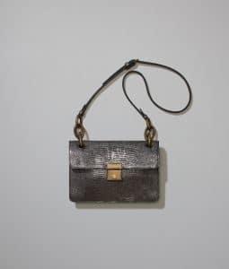 Bottega Veneta New Light Grey Lizard Darling Bag