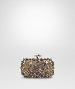 Bottega Veneta Ottone Antico Embellished Knot Clutch Bag