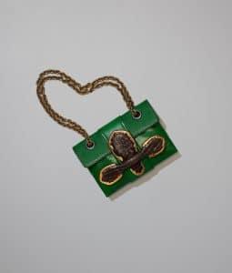 Bottega Veneta Shamrock Goat/Crocodile Envelope Bag