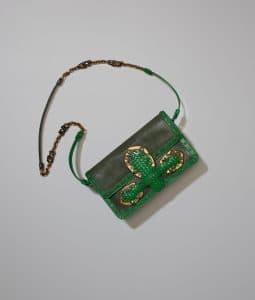 Bottega Veneta Shamrock Goat/Lizard Rialtina Bag