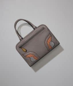Bottega Veneta Steel Deerskin/Lizard/Ostrich Brera Bag