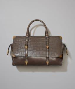 Bottega Veneta Steel Goat/Crocodile Monaco Bag