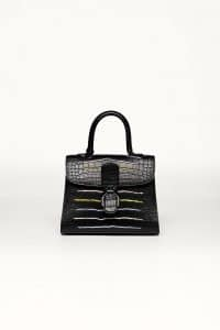 Delvaux Noir Alligator Rainbow Brillant MM Bag