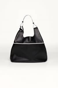 Delvaux Noir/Ivory Givry with Me Bag