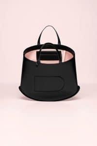 Delvaux Noir/Nude Pin Cabas Bag