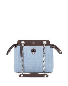 Fendi Blue Denim Dotcom Mini Bag