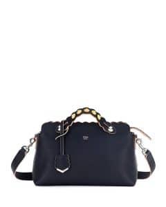 Fendi Dark Blue Scalloped By The Way Small Bag