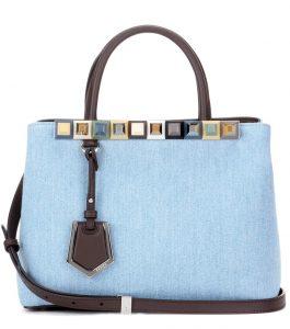 Fendi Denim Petite 2Jours Bag