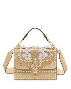 Fendi Gold/White Wonder Monster Kan I Bag