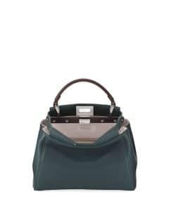 Fendi Green Bicolor Peekaboo Mini Bag
