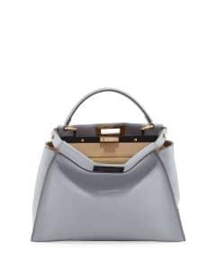 Fendi Light Blue/Beige Bicolor Peekaboo Medium Bag