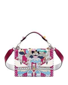 Fendi Pink/Silver Wonder Monster Kan I Bag