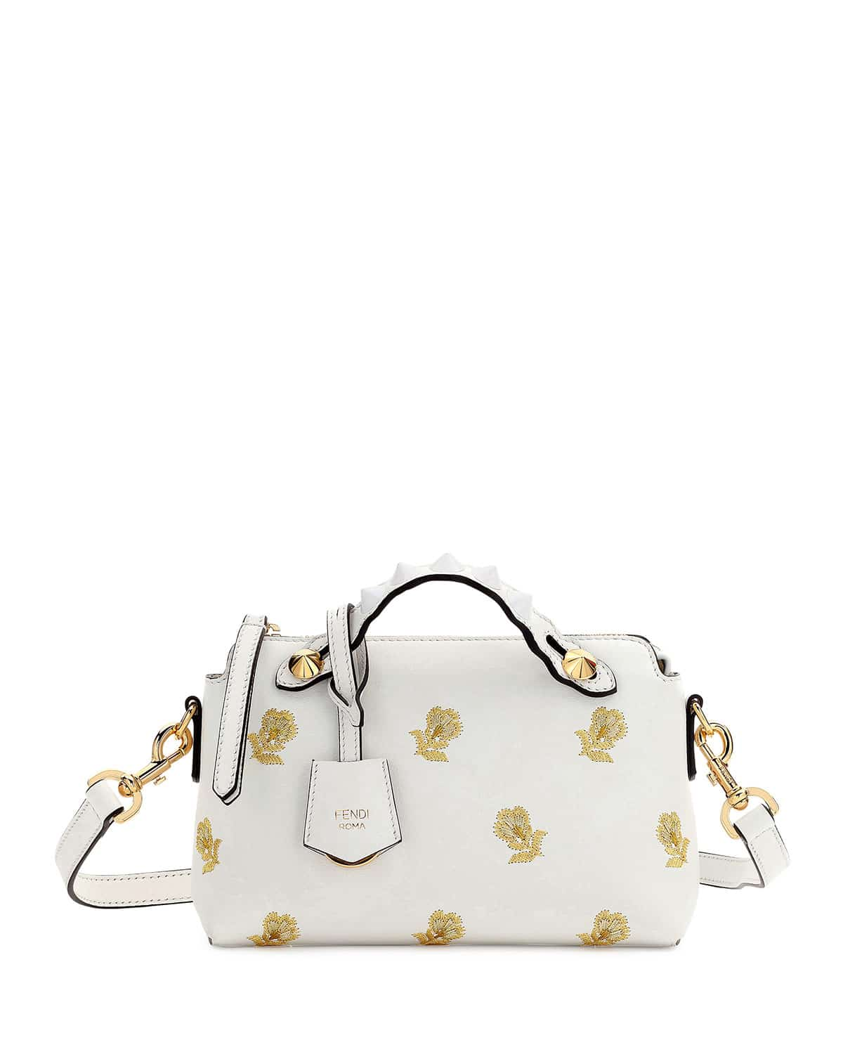 f777978be860 Fendi White Gold Floral Embroidered By The Way Mini Bag