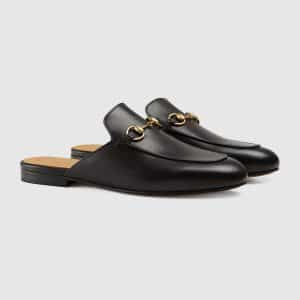Gucci Black Princetown Leather Slipper