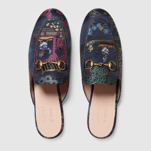 Gucci Blue Princetown Jacquard Donald Duck Slipper