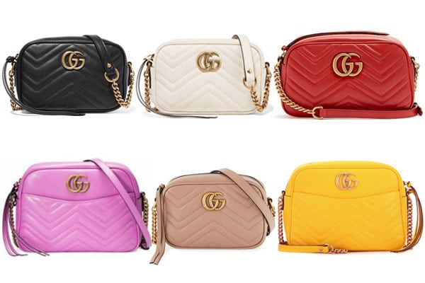 d54b2261844 Gucci GG Marmont Camera Bag Reference Guide | Spotted Fashion