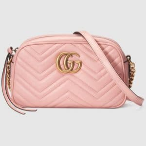 Gucci Light Pink GG Marmont Small Camera Bag