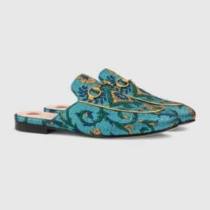 Gucci Multicolor Princetown Brocade Slipper