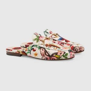 Gucci Multicolor Princetown Gucci Garden Slipper