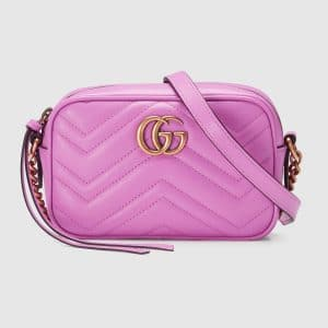 Gucci Pink GG Marmont Mini Camera Bag
