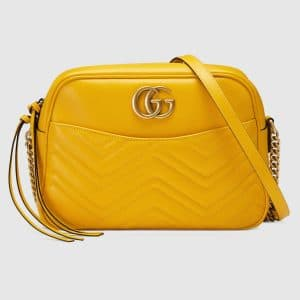 Gucci Yellow GG Marmont Medium Camera Bag