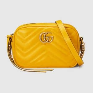 Gucci Yellow GG Marmont Mini Camera Bag