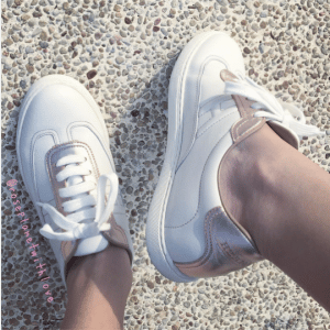 Hermes Blanc/Rose Swift Calfskin/Laminated Nappa Quicker Sneaker 3