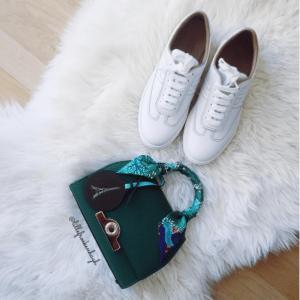 Hermes White Calfskin Quicker Sneaker 2
