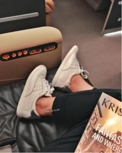 Hermes White/Silver Calfskin Quicker Sneaker
