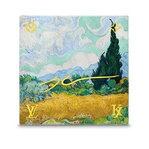 Louis Vuitton A Wheatfield with Cypresses Monogram Shawl Light