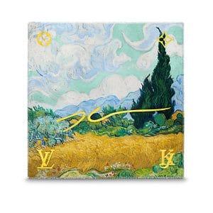 Louis Vuitton A Wheatfield with Cypresses Monogram Shawl Light