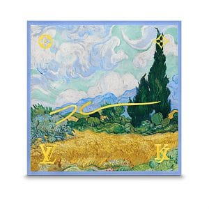 Louis Vuitton A Wheatfield with Cypresses Silk Square