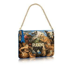 Louis Vuitton Blue The Tiger Hunt Clutch Bag