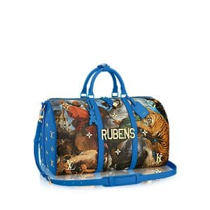 Louis Vuitton Blue The Tiger Hunt Keepall 50 Bag