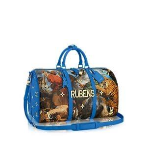 Louis Vuitton Blue The Tiger Hunt Keepall 50 Bag