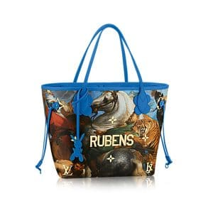 Louis Vuitton Blue The Tiger Hunt Neverfull MM Bag