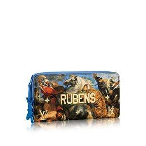 Louis Vuitton Blue The Tiger Hunt Zippy Wallet