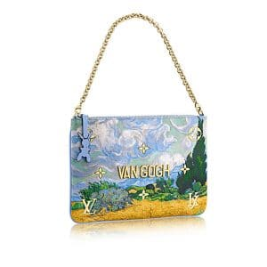 Louis Vuitton Light Blue A Wheatfield with Cypresses Clutch Bag