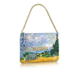 Louis Vuitton Light Blue A Wheatfield with Cypresses Clutch Bag