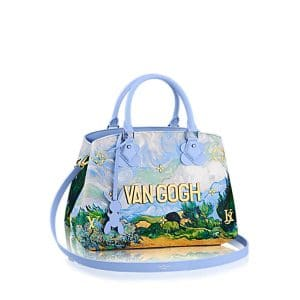 Louis Vuitton Light Blue A Wheatfield with Cypresses Montaigne MM Bag
