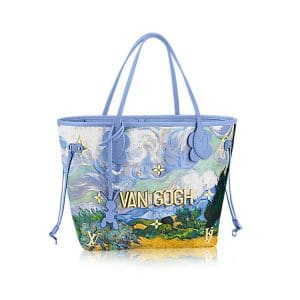 Louis Vuitton Light Blue A Wheatfield with Cypresses Neverfull MM Bag